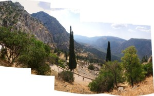 The view from Delphi is spectacular