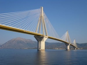 Bridge between the Gulf of Patras and the Gulf of Corinth